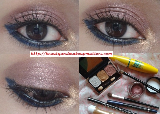 Copper-Pink-Eyes-with-Blue-Eye-Liner-Eye-Makeup-Tutorial-Final-Look