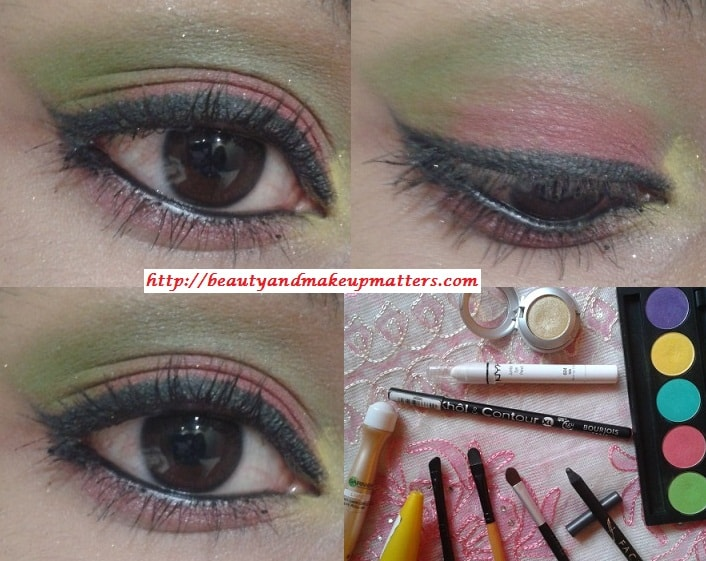 Eye-Makeup-Tutorial-Pink-and-Green-Eyes-Using-Inglot-EyeShadow-Final-Look