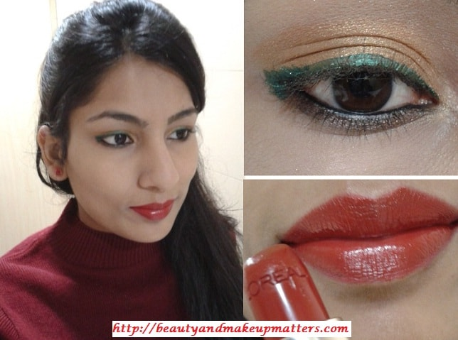 I-Am-Wearing-BrightGold-Eyes-WithBold-RedLips