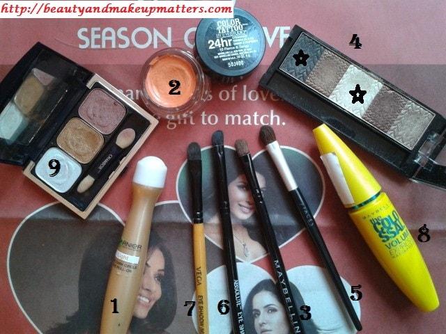 Products-Used-For-Eye-Makeup-Tutorial-Orange-brown-eyes