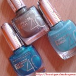 SwatchFest-Maybelline-Express-Finish-Nail-Paints-TurquoiseBlue-Green-Khakhi Green