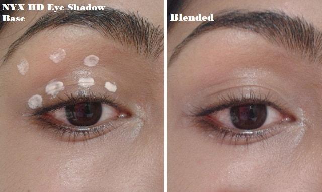 NYX HD Eye Shadow Base Eye swatch