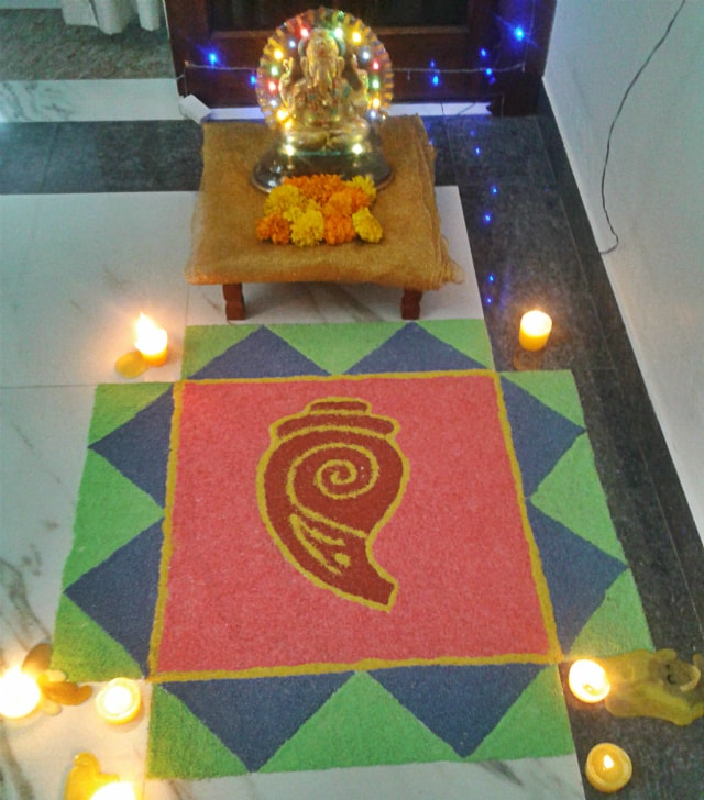 Diwali Rangoli Design 1 @Nov 2013