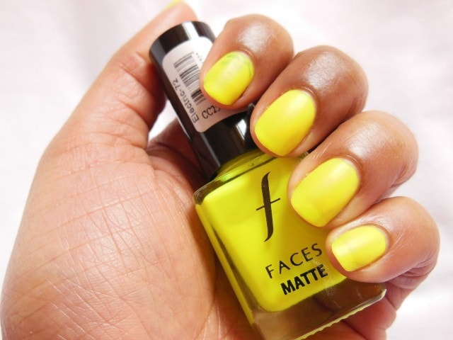 Faces Neon Matte Nail Enamel Electric Swatch