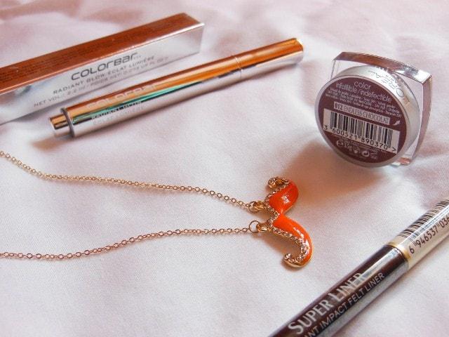 Shopping - L'Oreal Paris Eye Shadow, Eye Liner, Colorbar Illuminator, Moustache Necklace,