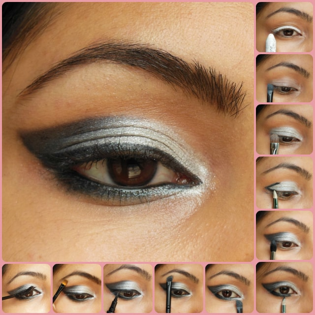 Eye Makeup Tutorial - Black Gray Smokey Eyes