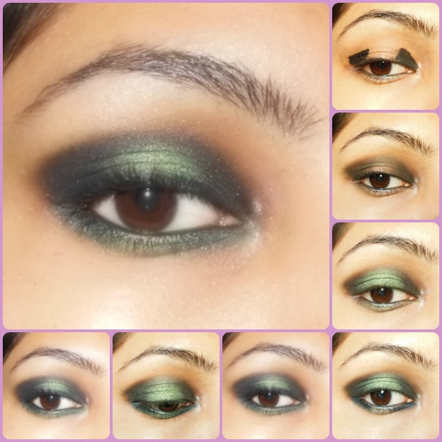 Eye Makeup Tutorial - Black and Green Eyes