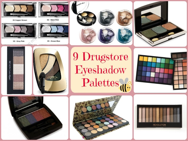 Drugstore Eye Shadow Palettes