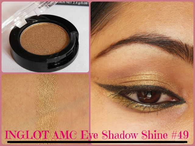 INGLOT AMC Eye Shadow Shine #49 Look