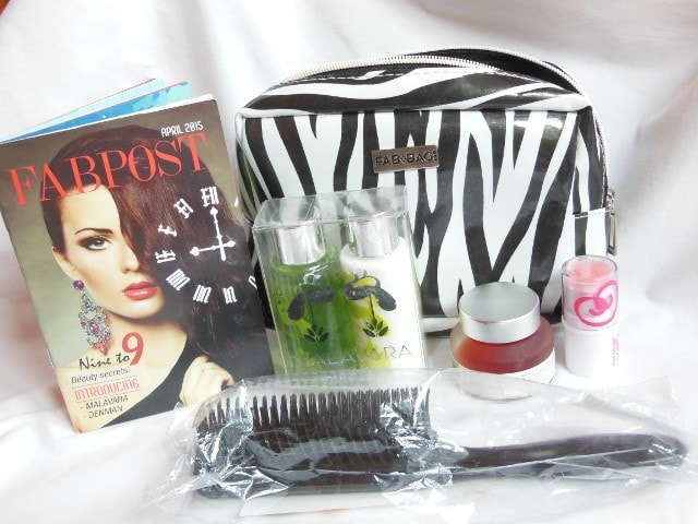Fab Bag April 2015 Contents
