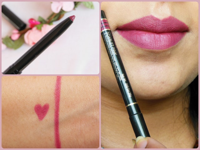 Revlon Colorstay Scarlet Pink Lip Liner Look