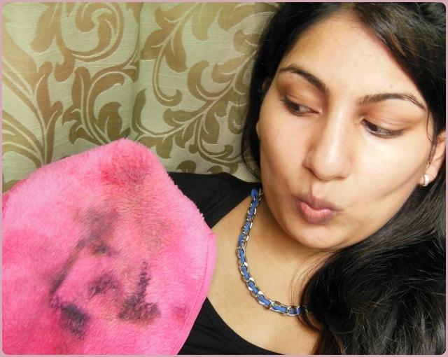 The Original Makeup Eraser After removing Makeup