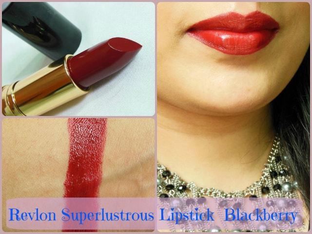 Revlon Superlustrous Black berry Lipstick Look