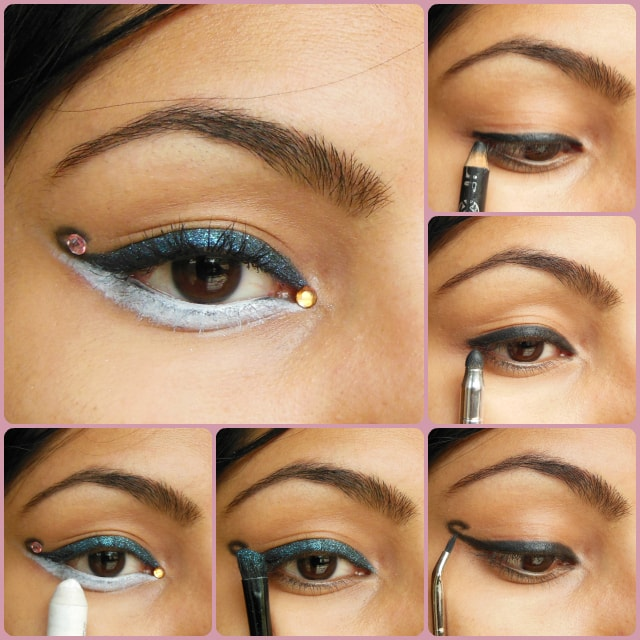 Eye Makeup Tutorial - Curved Cat Eye Liner