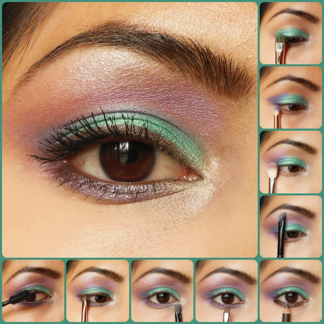 Eye Makeup Tutorial - Green and Purple Kareena Kapoor Inspired Eyes
