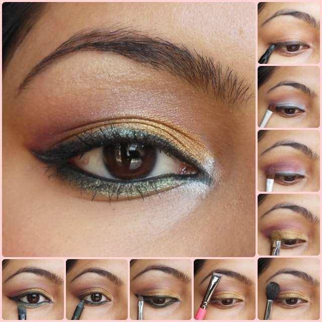 Eye Makeup Tutorial- Golden Festive Eyes