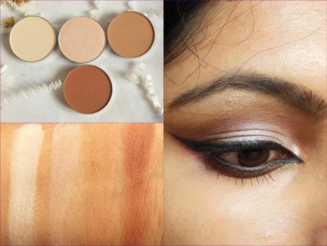 Luxie Beauty Warm Neutral Eye Shadow Look