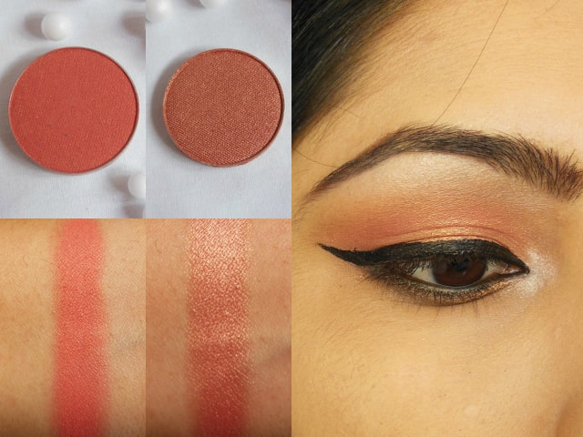 Makeup Geek Eye Shadow Mango Tango and Cosmopolitan Look