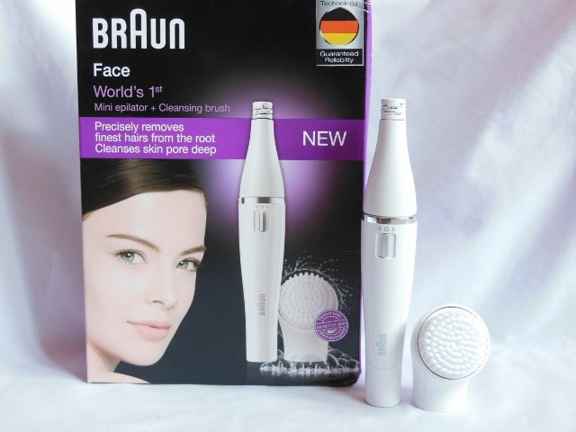 Braun Face Mini Epilator with Cleansing Brush 810