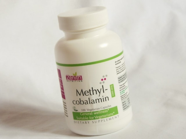 Zenith Nutrition Methylcobalamin Capsules Jar
