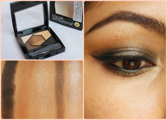 Maybelline Color Sensational Eye Palette Topaz Gold Look
