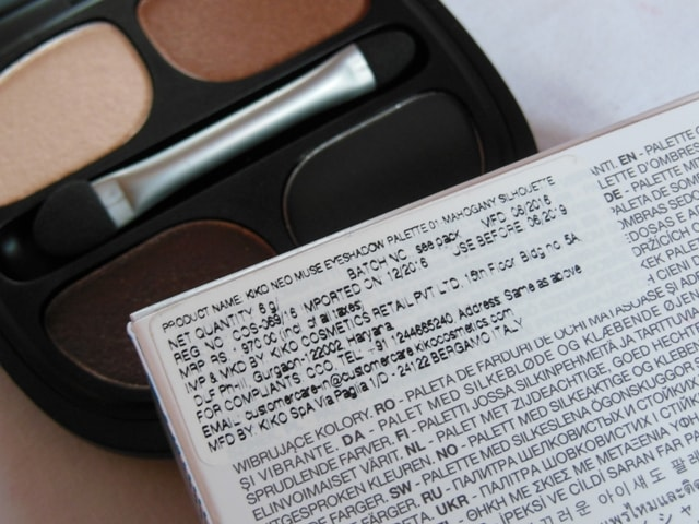 Kiko Milano Neo Muse Eye shadow Palette Review