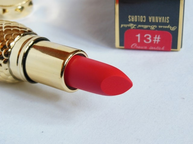 Sivanna Colors Gold Matte Lipstick No. # 13 Shade