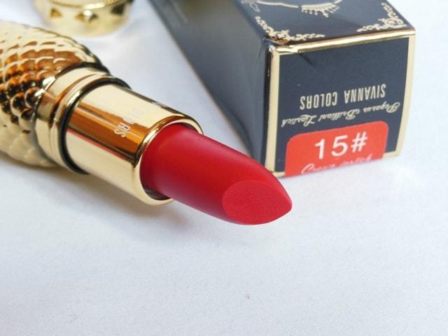 Sivanna Colors Gold Matte Lipstick No. # 15 Shade