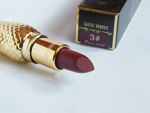 Sivanna Colors Gold Matte Lipstick No. # 3 Shade