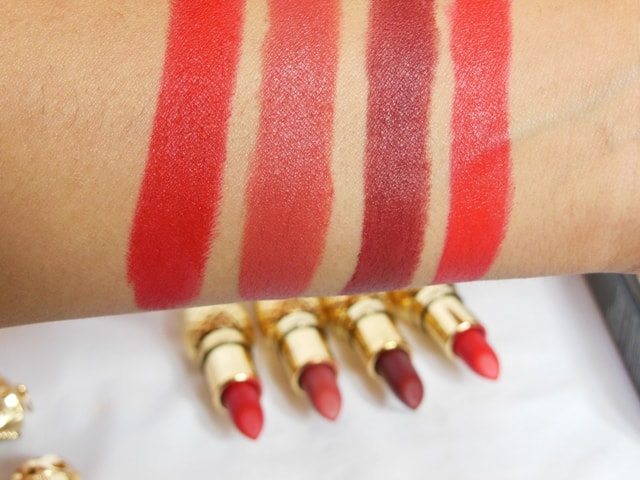 Sivanna Colors Gold Matte Lipstick Swatches