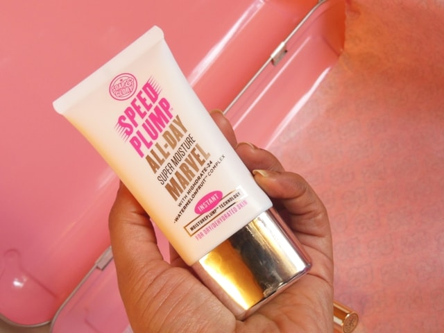 Soap & Glory Gift Box Contents - Soap & Glory Speed Plump All Day Super Moisture Marvel