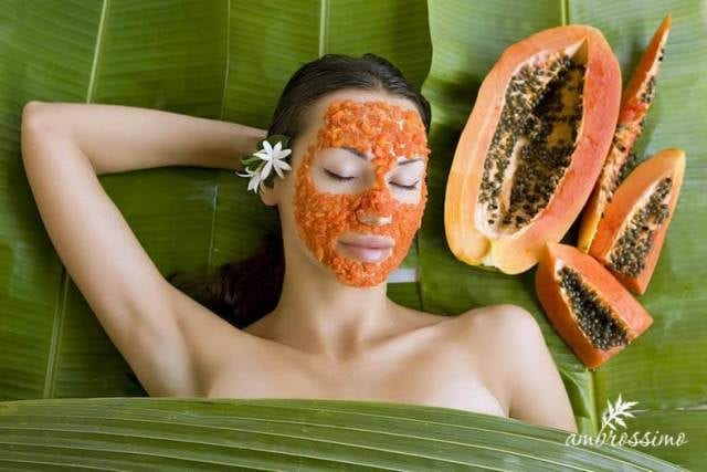 Best Home remedies to Treat Acne Overnight- papaya Face Mask