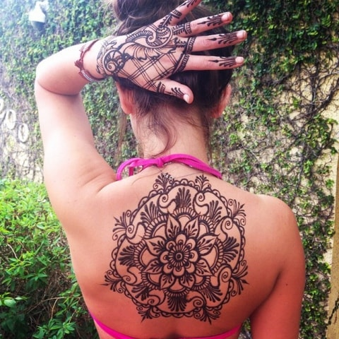Best heena Tattoos Designs for Back - Simple Mehendi Design