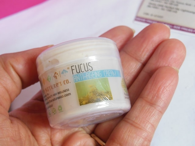 January fab Bag 2017 Products -The Nature's Co Fucus Anti-Ageing Cream