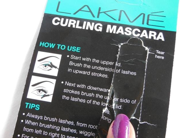 Lakme Eyeconic Curling Mascara Royal Blue Directions