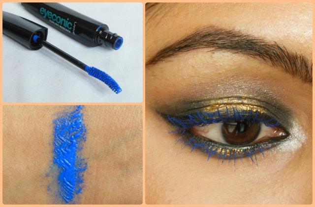Lakme Eyeconic Curling Mascara Royal Blue Look