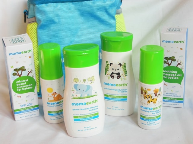 Mamaearth Baby Skincare Products - Body Lotion, Massage Oil, Sunscreen and Shampoo