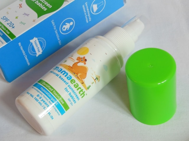 Mamaearth Mineral Based Sunscreen for Babies Packaging