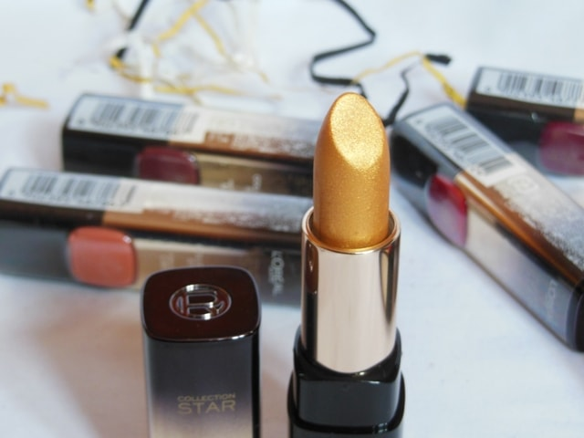 New Makeup Launch from L'Oreal Paris in India 2017- L'Oreal Color Riche Bold in Gold Lipsticks - Le Gold Lipstick