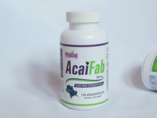 Zenith Nutrition Acai Fab Supplement Capsules