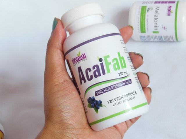 Zenith Nutrition Acai Fab Supplement Vegetarian Capsules