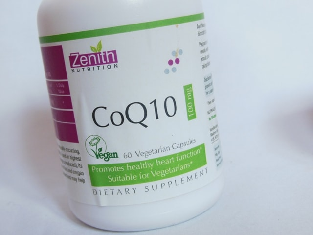 Zenith Nutrition COQ 10 Supplement Capsules Review