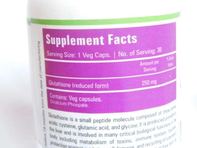 Zenith Nutrition Glutathione Supplement Capsules details