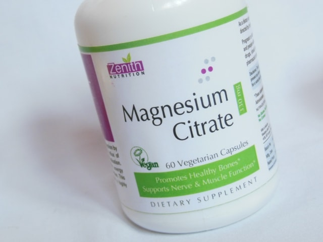 Zenith Nutrition Magnesium Citrate Supplement Capsules review