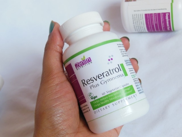 Zenith Nutrition Resveratrol Supplement Capsules packaging