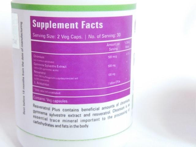 Zenith Nutrition Resveratrol Supplements Details
