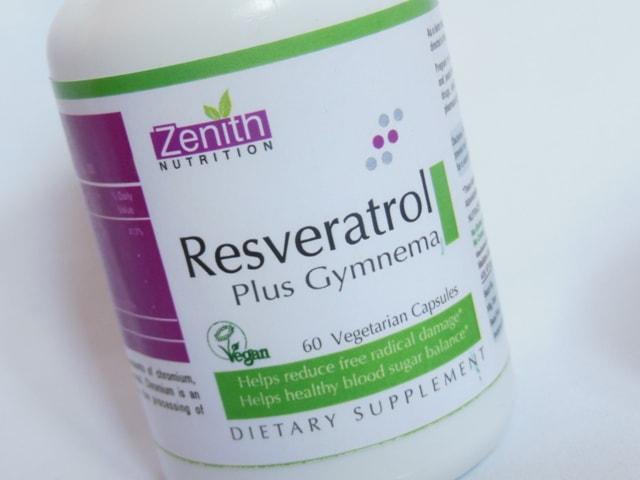 Zenith Nutrition Resveratrol plus Gymnema Vegetarian Capsules