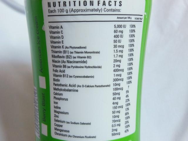 Zenith Nutrition Slim Shake Supplement Details