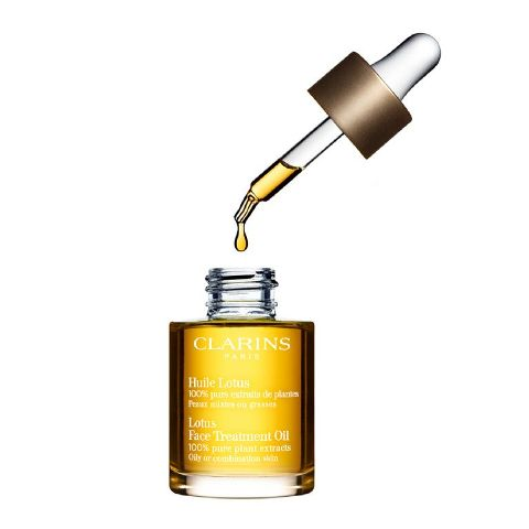 Best Facial Oils for Oily skin - Clarins Lotus Face Treatment OIl