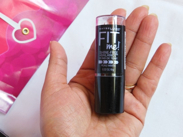 Maybelline Fit Me Shine Free Stick Foundation Packaging